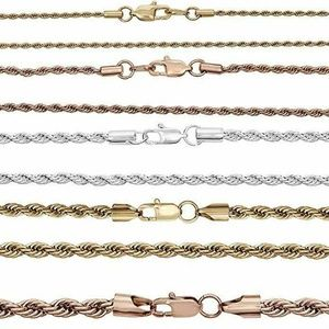 Harlembling Yellow Rose Or White Gold Rope Chain